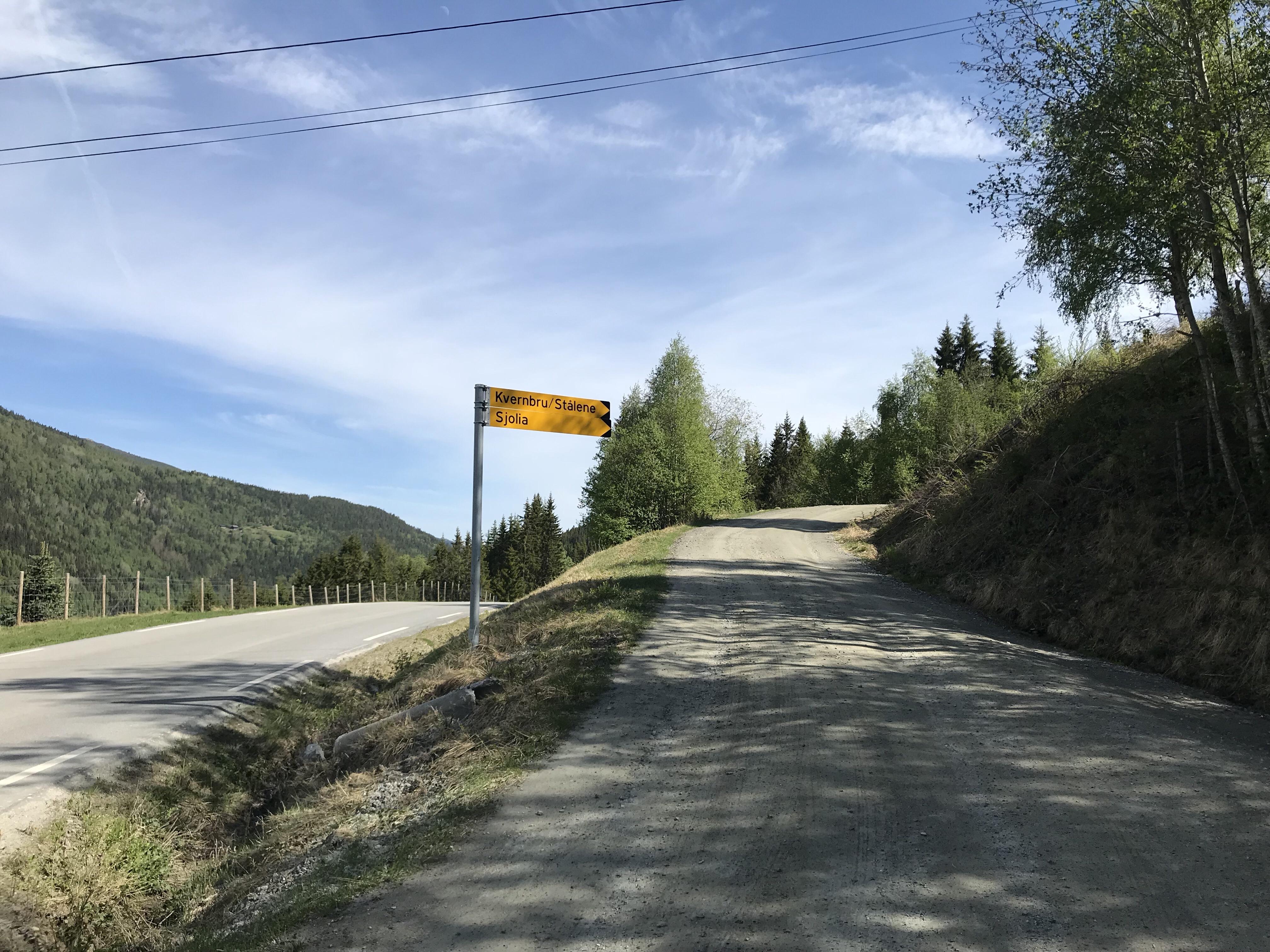 Skilt til Kvernbru